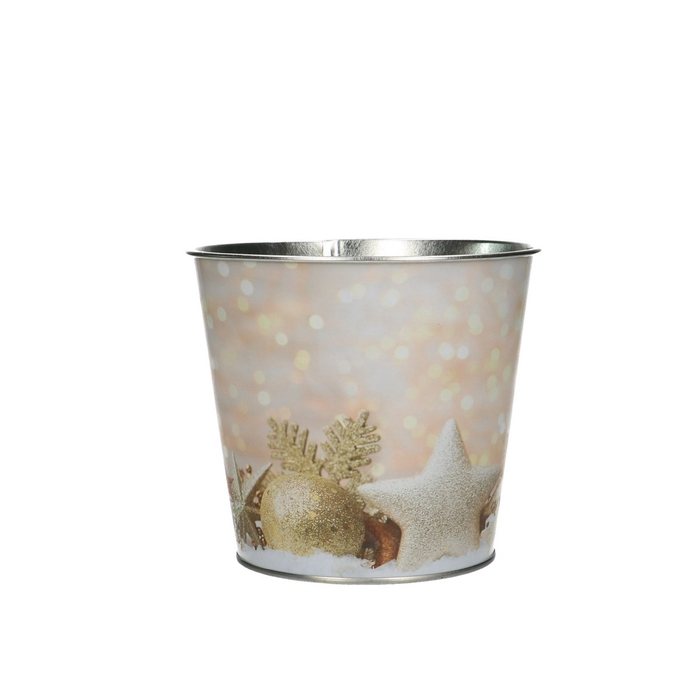 <h4>Christmas Pot Xmas glitter d12*10.5cm</h4>