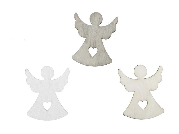 <h4>Christmas Angel wood 3cm 3ass x60</h4>