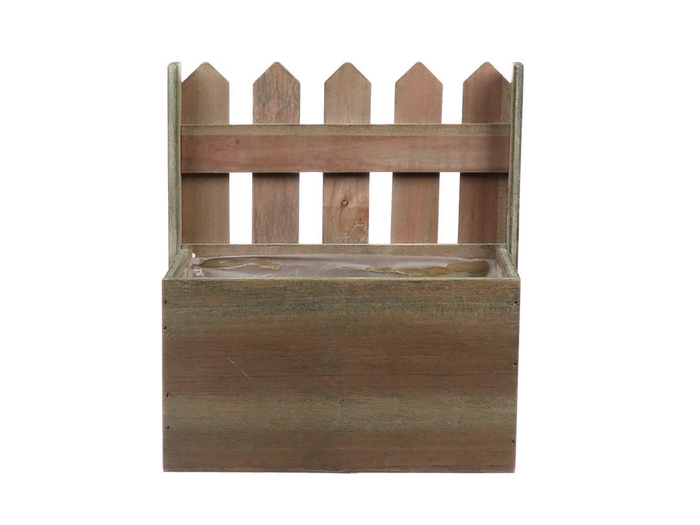 <h4>DF662681100 - Planter Fence1 wood 18x11xh20 natural</h4>
