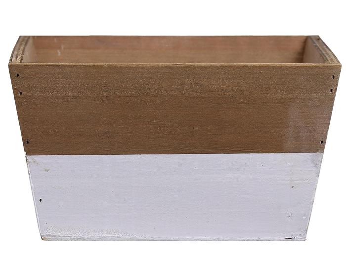 <h4>DF662681800 - Planter Argo3 18x18x10 white/natural</h4>