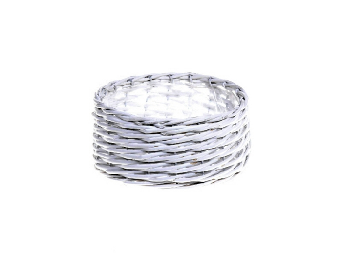 <h4>DF662090500 - Basket Benthe d21xh10.5 white</h4>