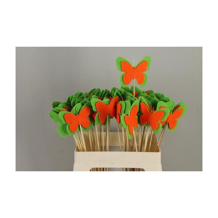 <h4>Stick Butterfly Felt Green/orn</h4>