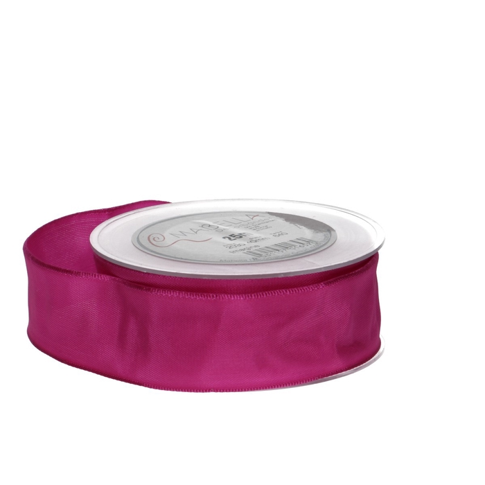 <h4>Ribbon Fabric+wire 40mm 25m</h4>