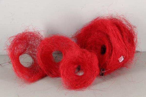 <h4>Bouquet Holder 15+20+25cm Red</h4>