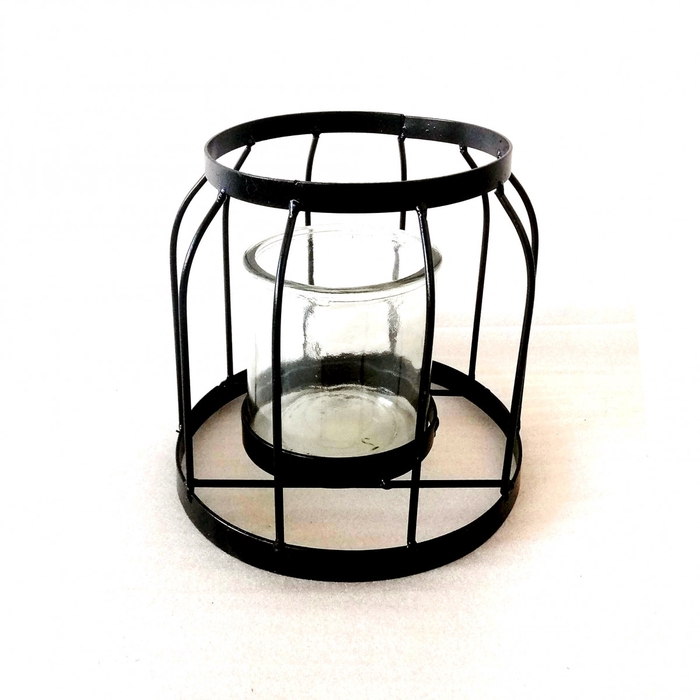 <h4>Glass Cage+hole round d18*18cm</h4>