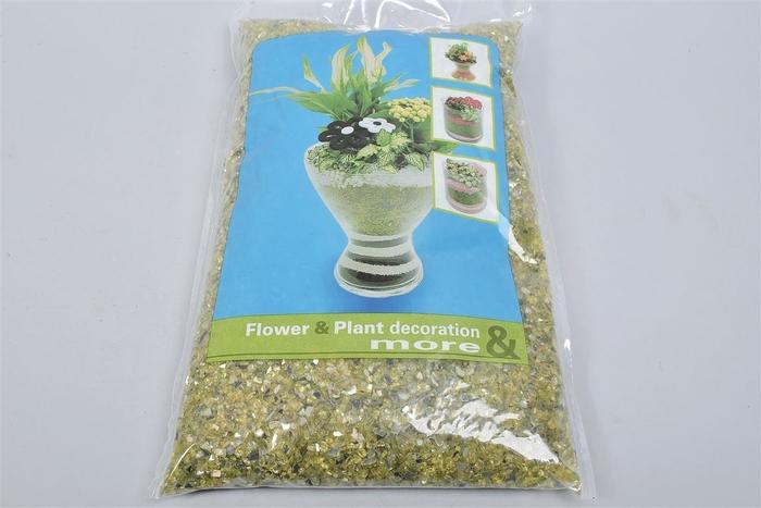 <h4>Garnering Spiegelglas Groen 1-4mm Per 4kg</h4>