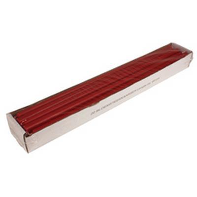 <h4>Kaars bloemensteek 15x490mm  rood  - doos 20st</h4>