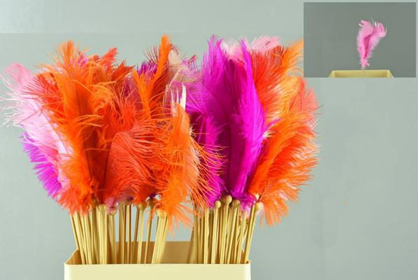 <h4>Stick Feather Ostrich Mix 15cm</h4>
