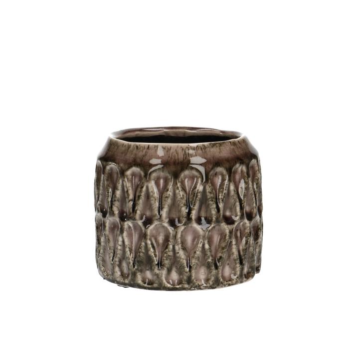 <h4>Ceramics Ribbon pot d12*11cm</h4>
