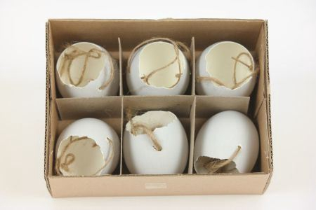 <h4>Hang. Egg Shell Matt 6pc Grey</h4>