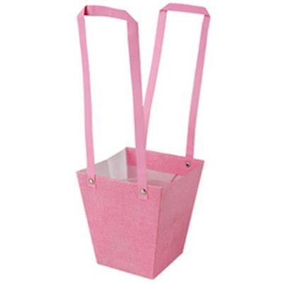 <h4>Bag Fabric PP 13x9,5xH15cm pink</h4>