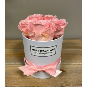 Box rd 12cm wit-roze
