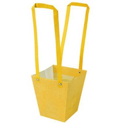 <h4>Bag Fabric PP 13x9,5xH15cm yellow</h4>