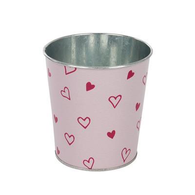 <h4>Pot Love story zinc D10xH10cm ES9 rouge/rose</h4>