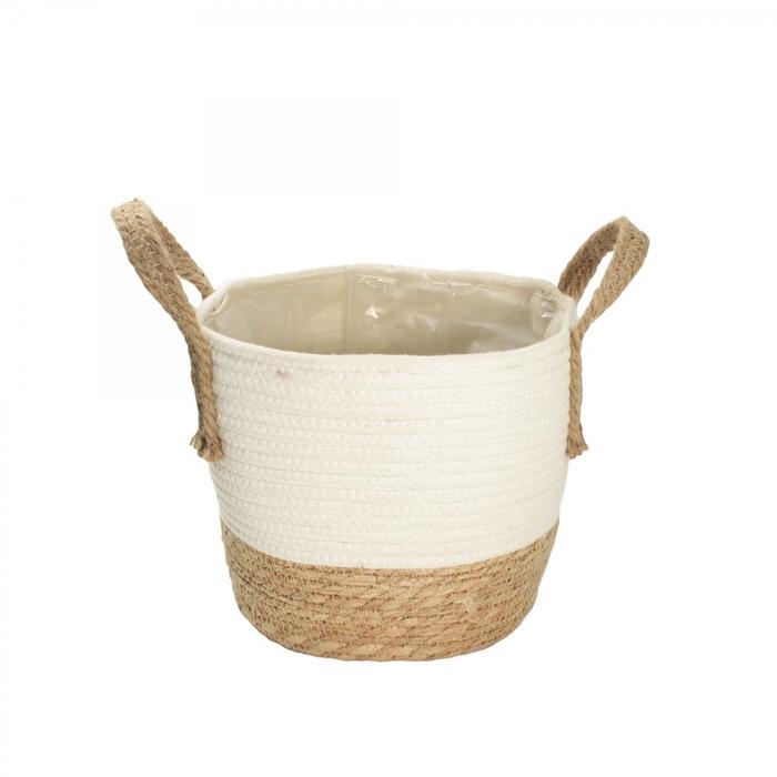 <h4>Manden Pot touw+katoen d18*15cm</h4>