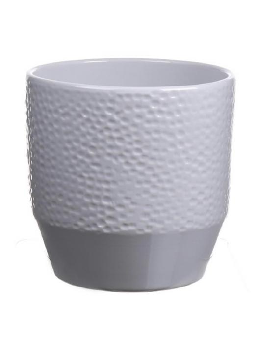 <h4>DF883628347 - Pot Pisa+dots d13.5xh13.2 cool grey</h4>