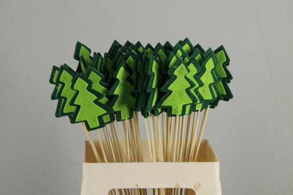 <h4>Stick Tree Felt 9cm Grn/grn</h4>