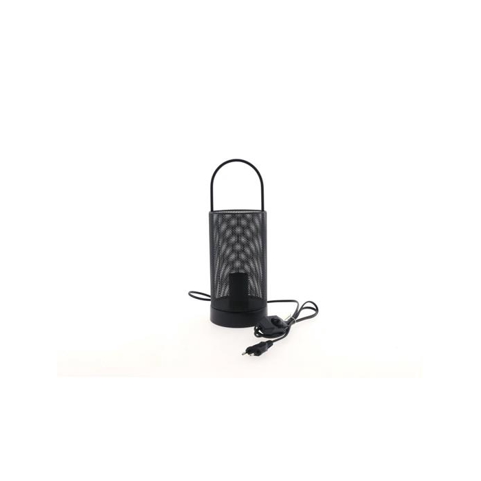 <h4>Lamp Table Mtl Ø12x34cm Black</h4>