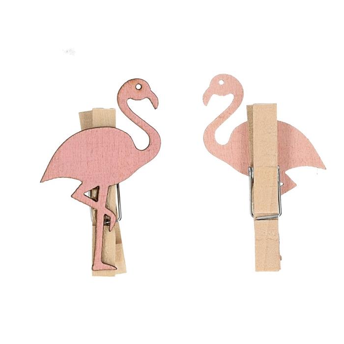 <h4>Decoratie Knijper Flamingo 5.5*3.5cm x24</h4>