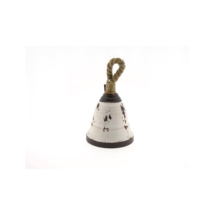 <h4>Bell Hang Mtl+rope H25cm White</h4>