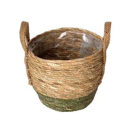 <h4>Basket Belmar d25.5xh22 beige/green</h4>