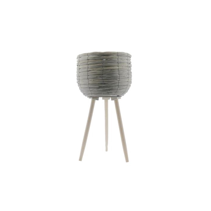 <h4>Basket W/feet Ø29x59 Grey/nat.</h4>