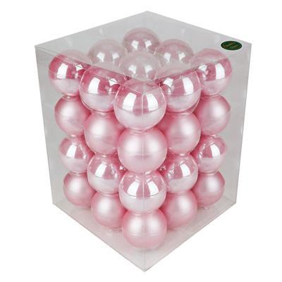 <h4>Boules de nöel en tube 57mm ass pink 36 pcs</h4>
