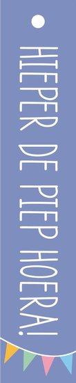 <h4>FLORAL CARD DUTCH HIEPER DE PIEP HOERA! 25PCS FCC-7820</h4>