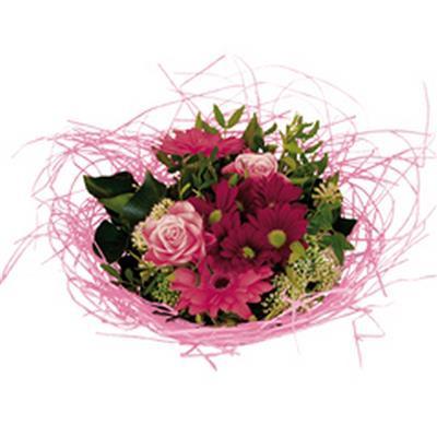 <h4>Bouquet holder woody Ø25cm pink</h4>