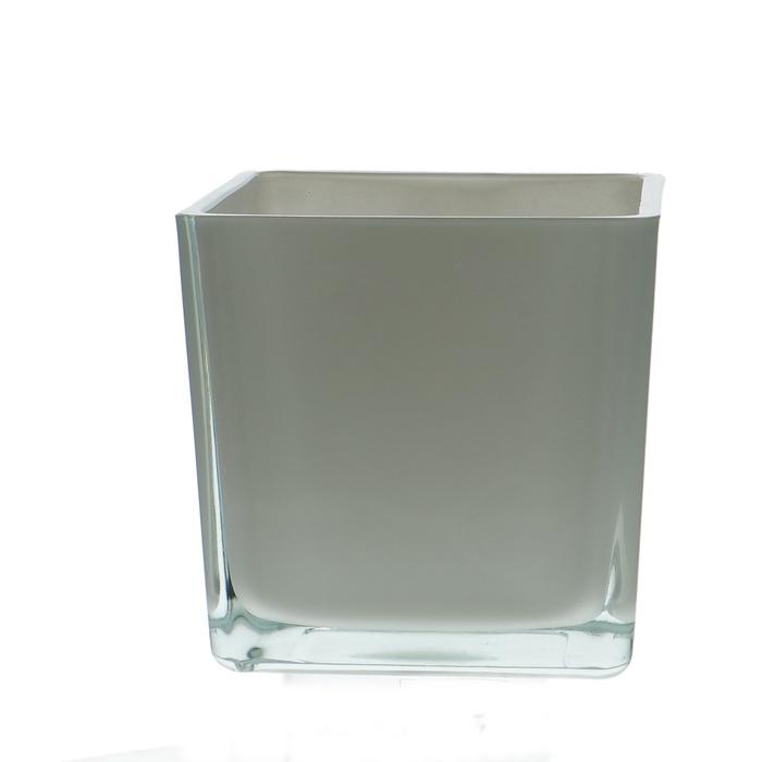 <h4>Glass colour Cube taper d14*14cm</h4>