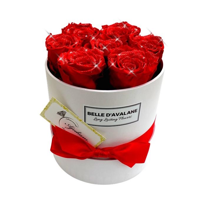 <h4>Diamant Flowerbox rd 15cm wit-rood</h4>