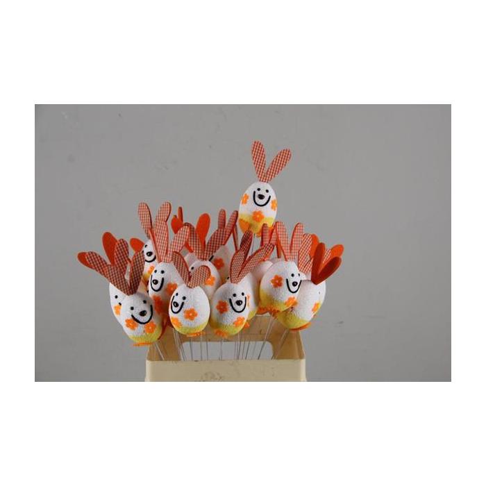 <h4>Stick Easter Rabbit Orange</h4>