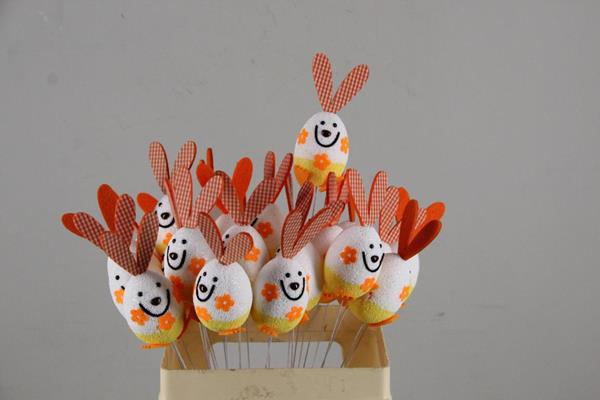<h4>Stick Easter Rabbit Orange</h4>