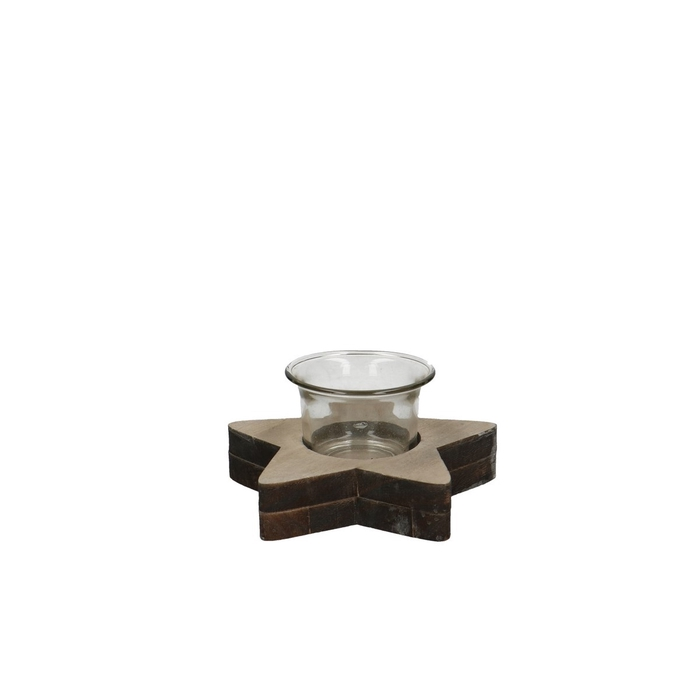 <h4>Candlelight Star wood d12*6cm</h4>