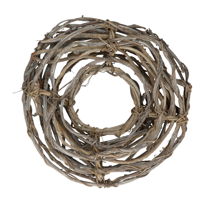 <h4>Wreath d30cm Angle vine open frosted</h4>