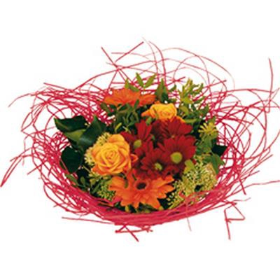 <h4>Support à bouquet woody Ø20cm rouge</h4>