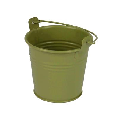 <h4>Bucket Sevilla zinc Ø6,3xH5,7cm - ES5,5 green matt</h4>