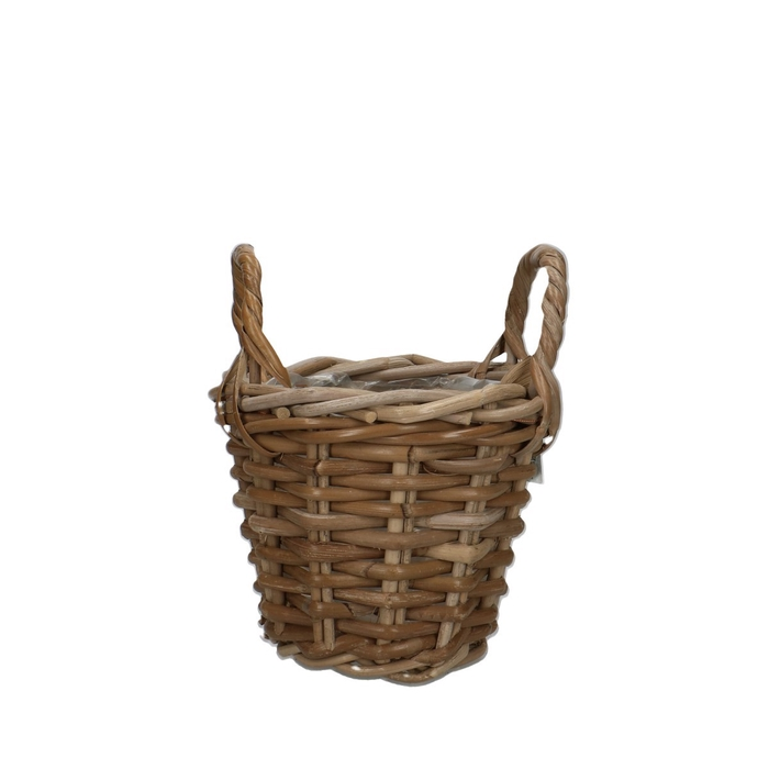 <h4>Baskets Rattan pot+handle d18*14cm</h4>
