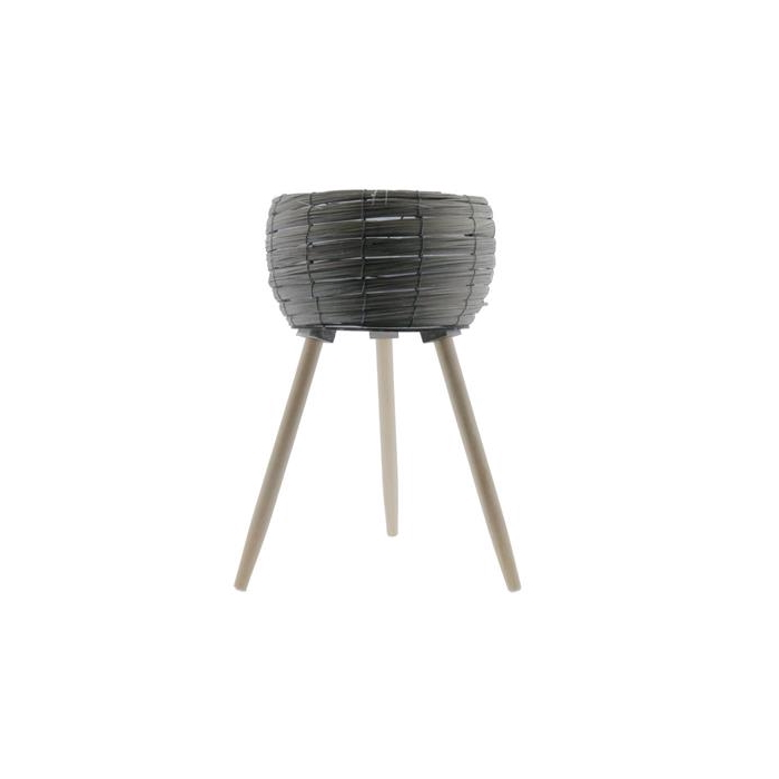 <h4>Basket W/feet Ø29x53 Grey/nat</h4>