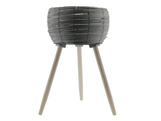 <h4>Basket W/feet Ø29x53 Grey/nat</h4>