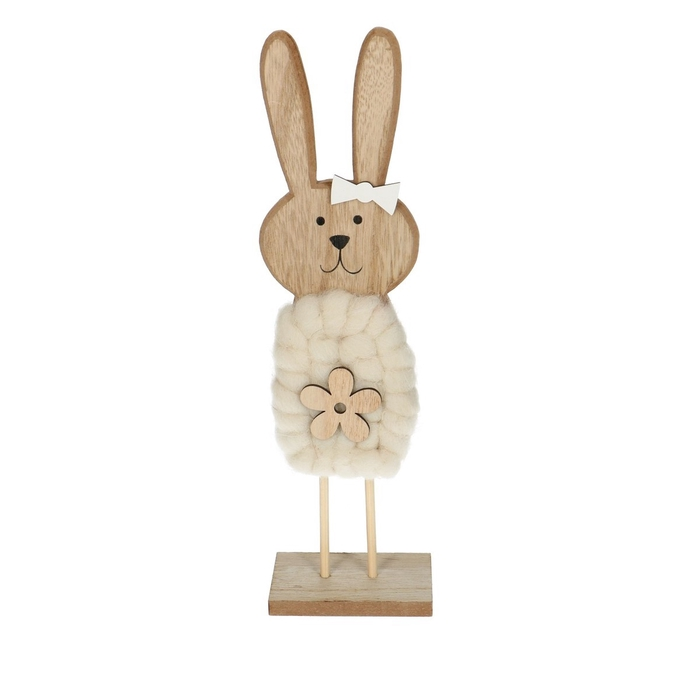 <h4>Promo Rabbit wood/foot d8*29.5cm</h4>