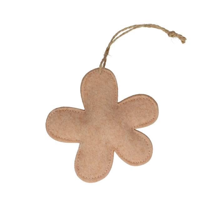 <h4>Decoratie Hanger bloem vilt 13cm x4</h4>