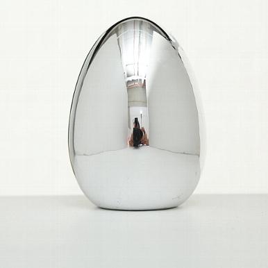 <h4>Decorative object Divo, Egg, H 11 cm, Dolomite, Silver dolomite silver</h4>