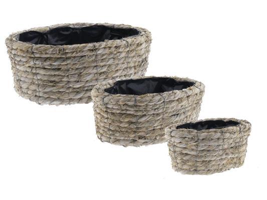 <h4>Basket Rope S/3 Ø37x14cm</h4>