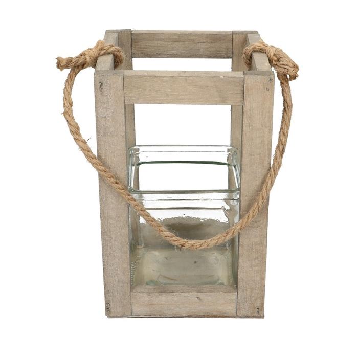 <h4>Lantaarn Frame hout+1bak 10*10cm</h4>