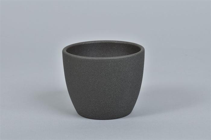 <h4>Keramiek Pot Grijs Donker 10cm</h4>