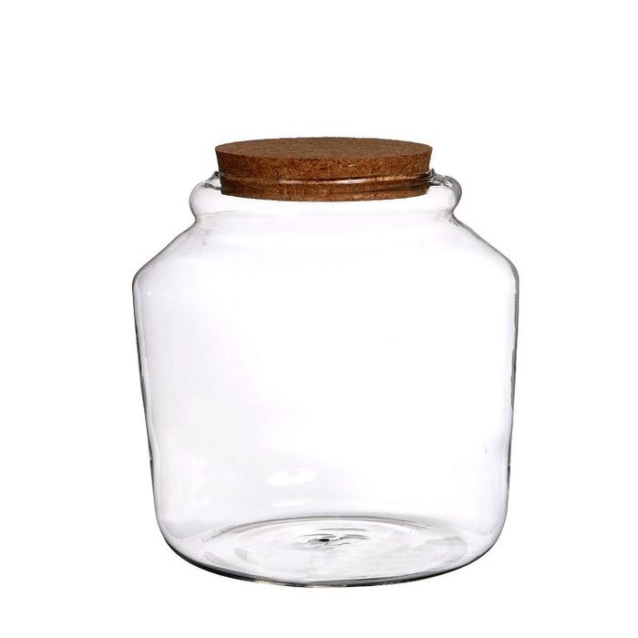 <h4>Glas Pot+kurk d18*18cm</h4>