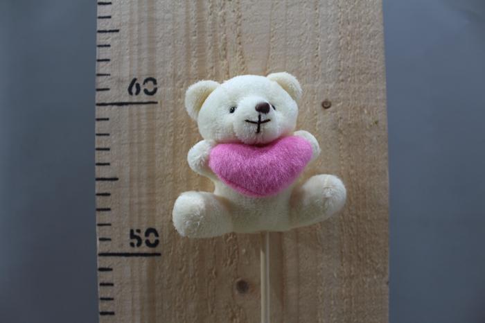 <h4>PLUSH BEAR CREAM WHIT HEART O/S H50 12PCS 260.5839</h4>