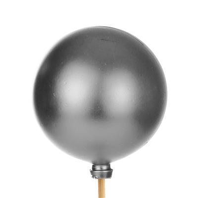 <h4>Bijsteker Kerstbal mat Ø6cm+50cm stok zilver 100</h4>