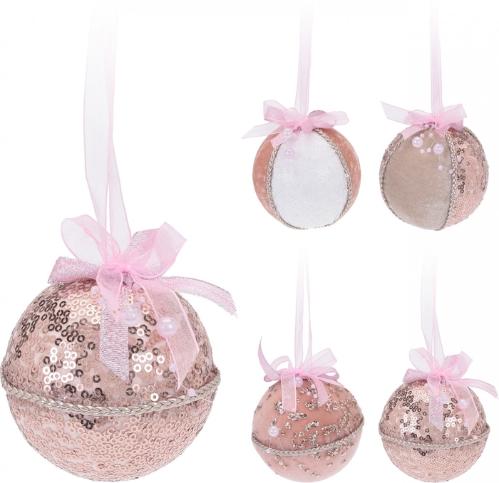 <h4>Christmas bauble Ball deco d80mm ass</h4>